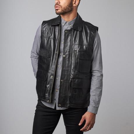 Leather Vest // Black