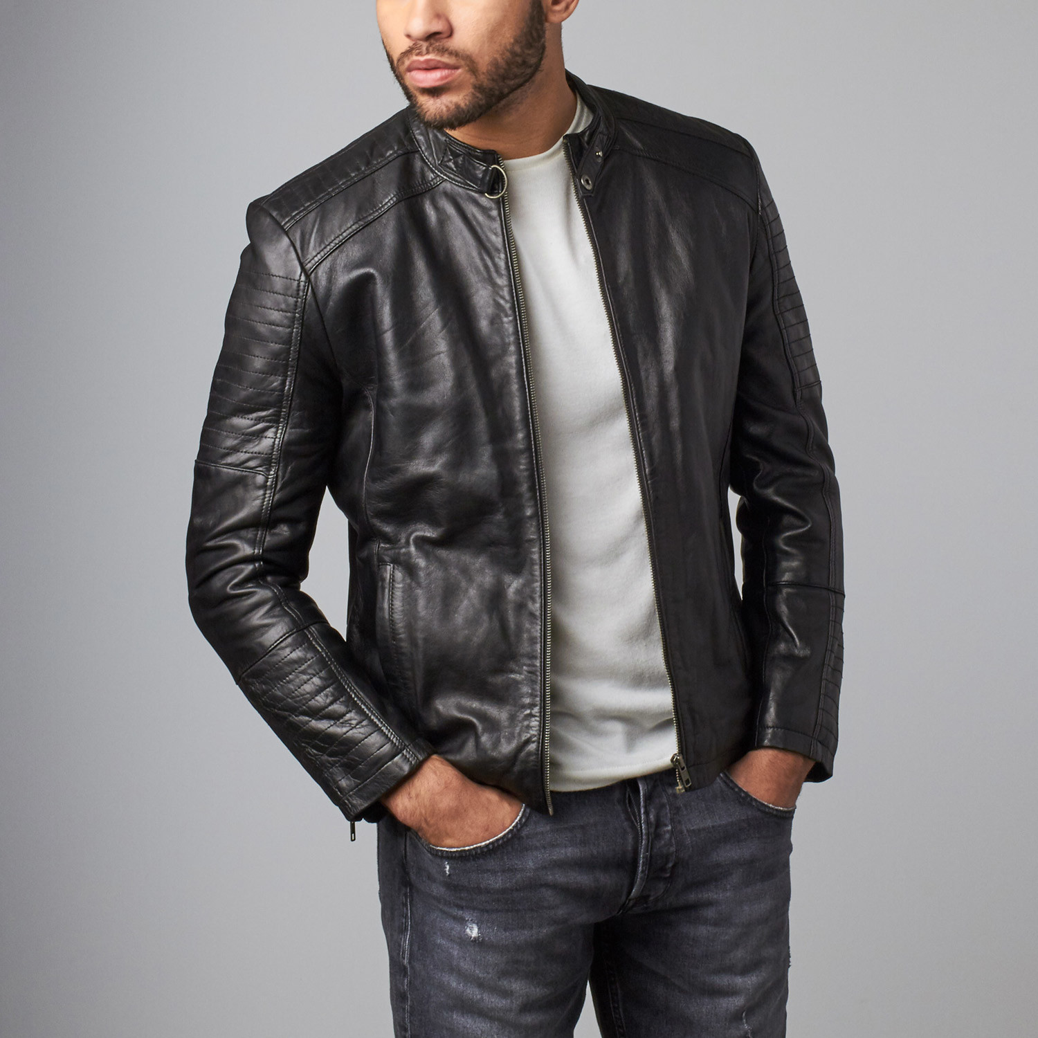 ad5faefcb Leather Jacket // Black (XS) - Helium - Touch of Modern
