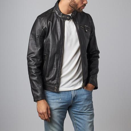 Leather Zip Jacket // Black