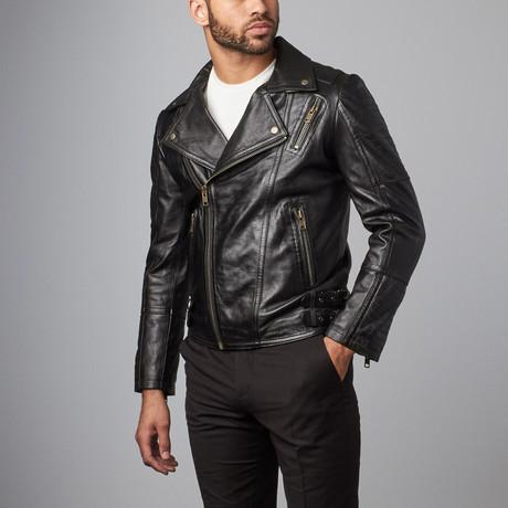Overlap Zip Jacket // Black