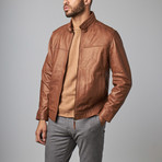 Classic Leather Jacket // Cognac (L)