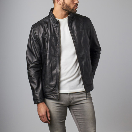 Classic Leather Jacket // Black (S)