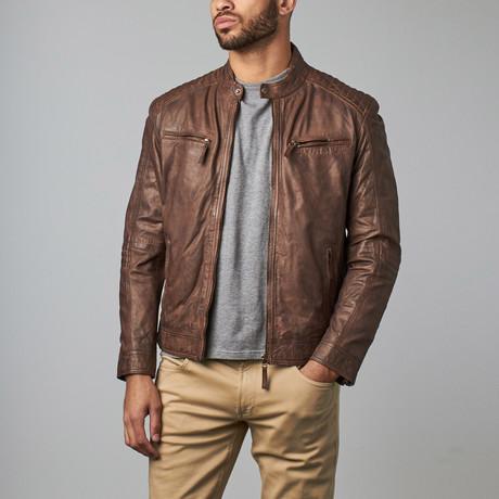 Leather Biker Jacket // Meeru