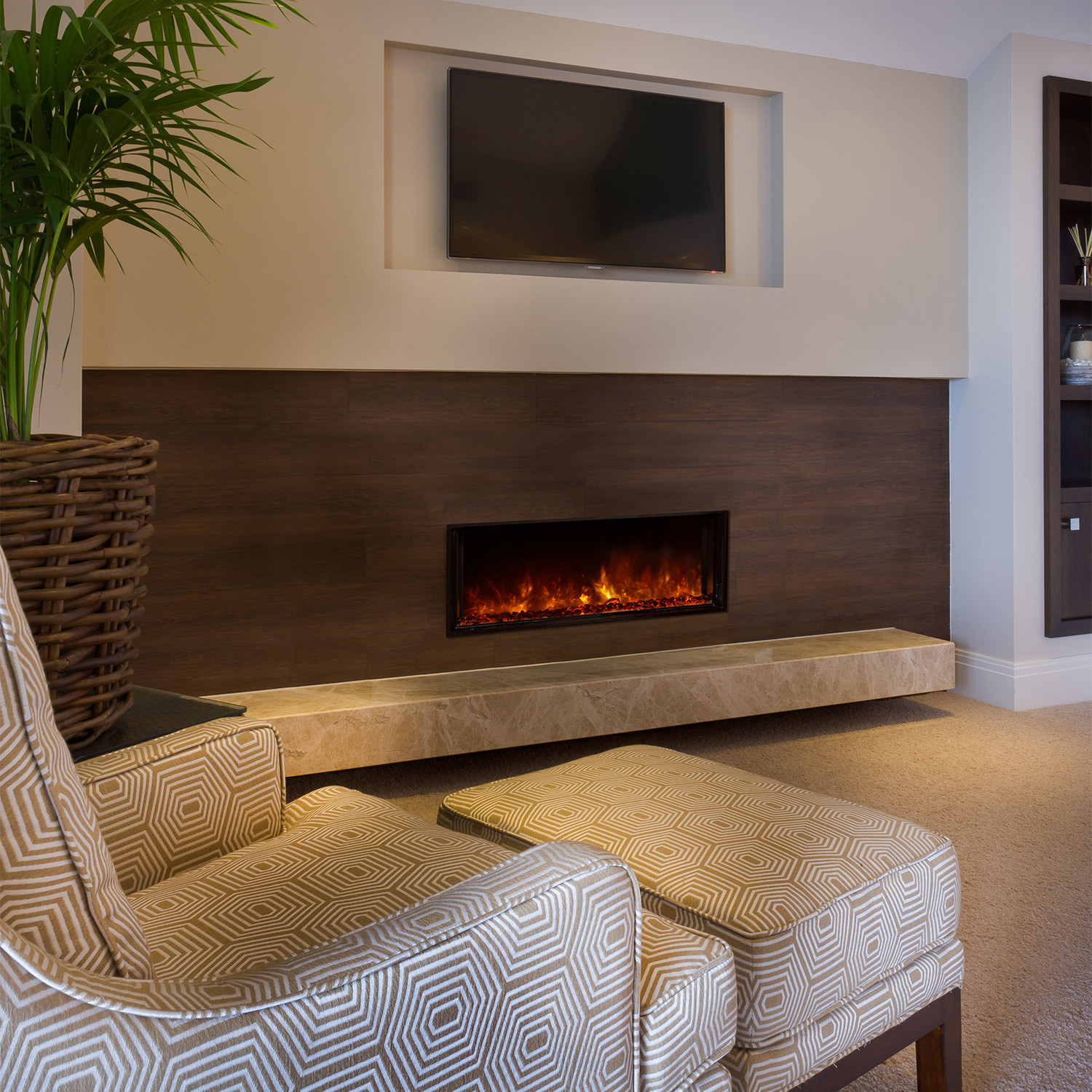 landscape fullview built in electric fireplace 40