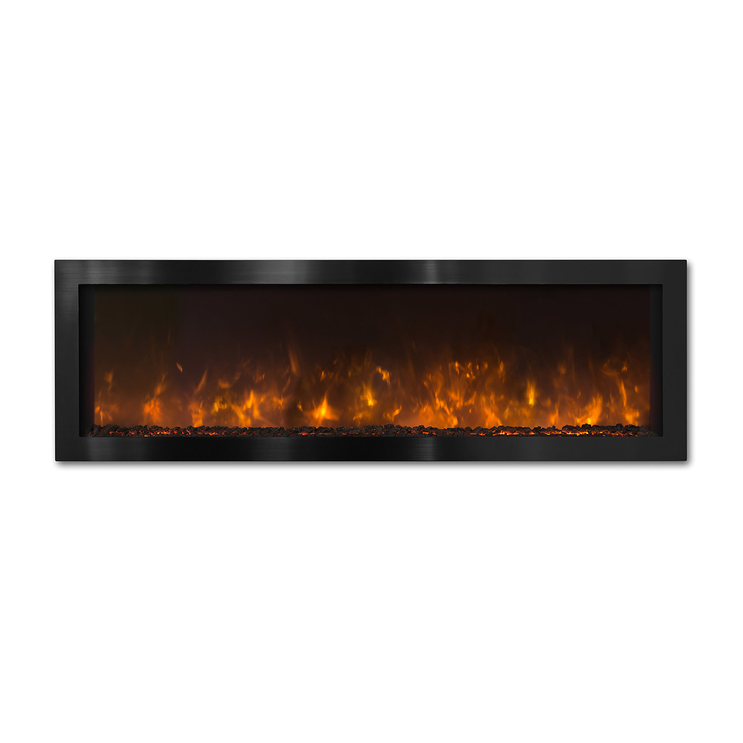 nova indoor outdoor electric fireplace black stainless steel