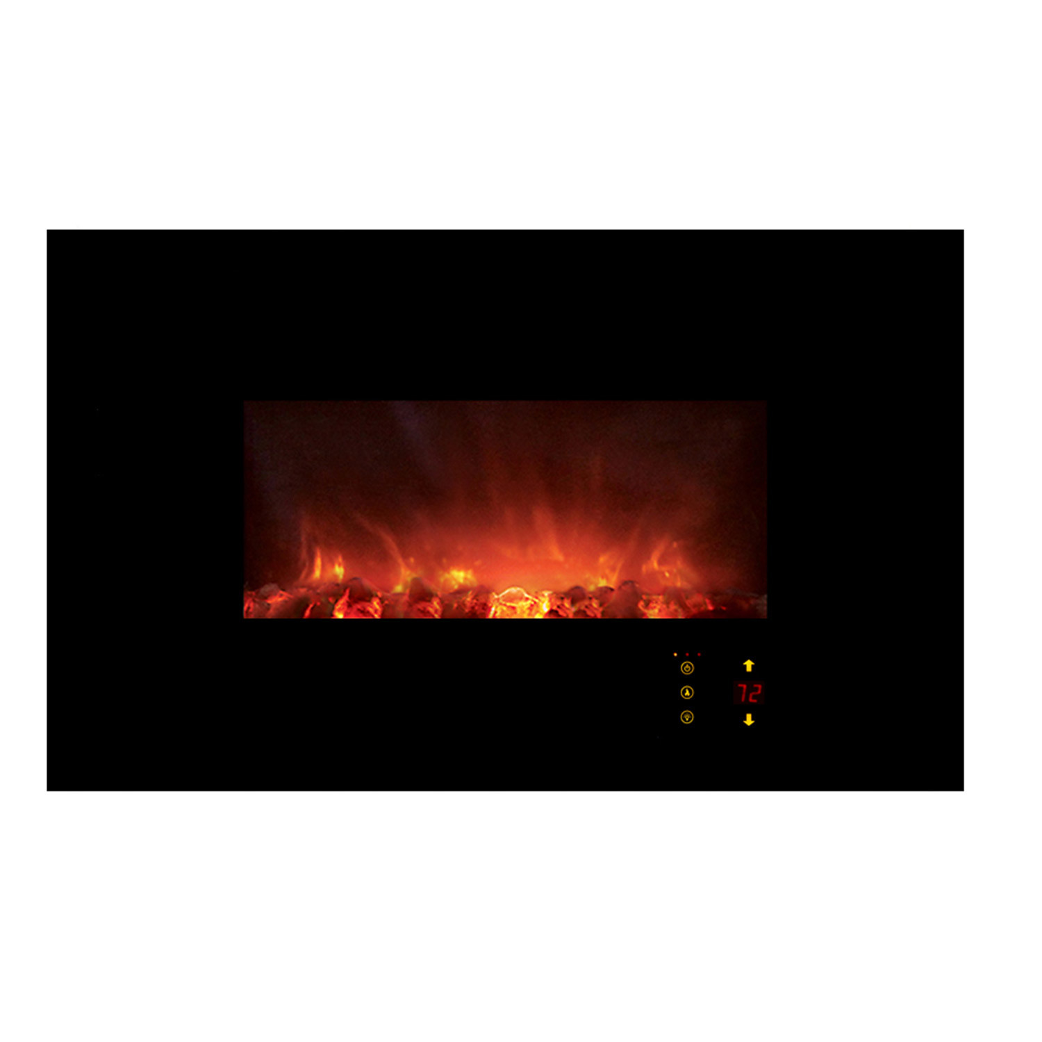 Wall Mount Electric Fireplace Or Recessed Within Designs: CLX 2 Series // Recessed + Wall Mount Electric Fireplace