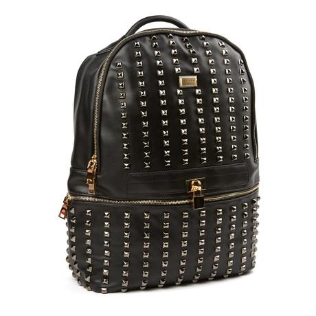 Bastille Studded Backpack // Black