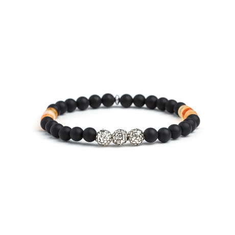 Dell Arte // Black Onyx + Carnelian Bracelet // Multicolor