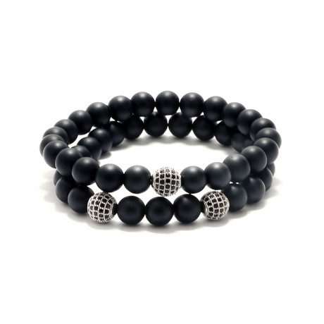 Black Onyx + CZ Ball
