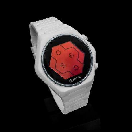 Tokyoflash Quasar Silicone // White (White + Red LCD)