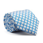 Hand Made Tie // Blue Window Pane