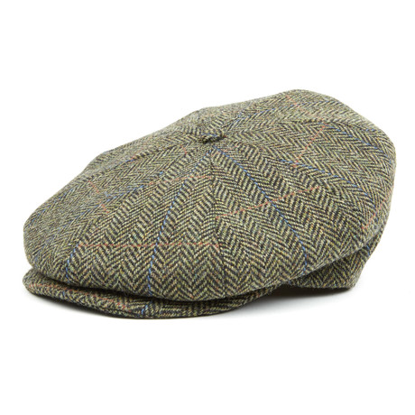 Tweed Ripley Flat Cap // Camo Herringbone