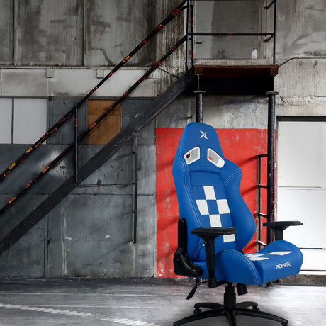 Gaming Chair // Blue + White