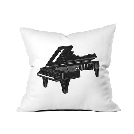 """Music Is The Key 1 // Throw Pillow (18"""" x 18"""")"""