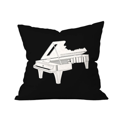 """Music Is The Key 2 // Throw Pillow (18"""" x 18"""")"""
