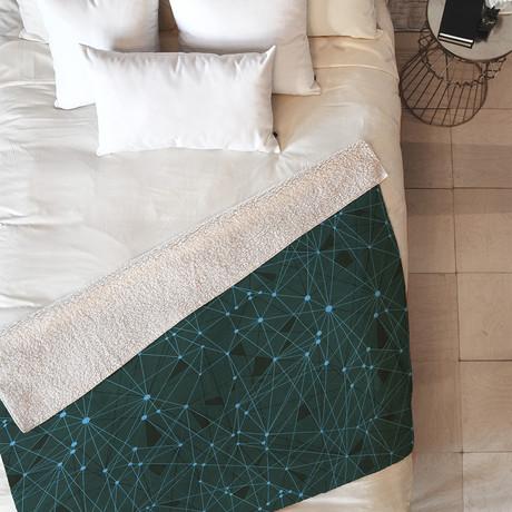 Atlantis GR // Fleece Throw Blanket (Medium)