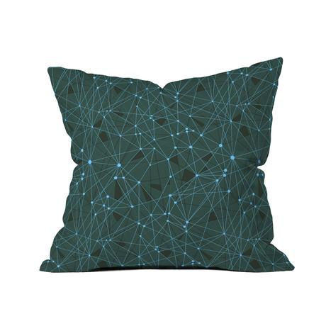 """Atlantis GR // Throw Pillow (18"""" x 18"""")"""