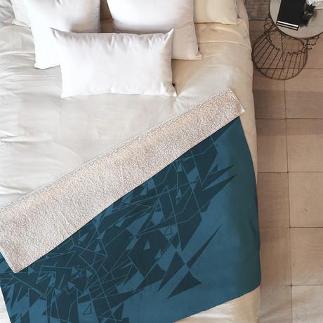 Glass BG // Fleece Throw Blanket (Medium)