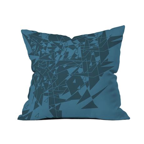 """Glass BG // Throw Pillow (18"""" x 18"""")"""