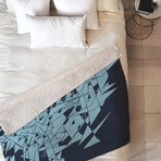 Glass DB // Fleece Throw Blanket (Medium)