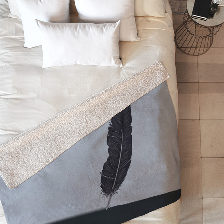 Quill // Fleece Throw Blanket (Medium)