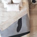 Quill // Fleece Throw Blanket (Medium)