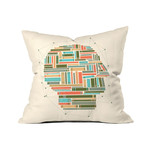 "Socially Networked // Throw Pillow (18"" x 18"")"
