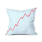 """Things Are Looking Up // Throw Pillow (18"""" x 18"""")"""