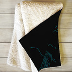 Circuit // Fleece Throw Blanket (Medium)