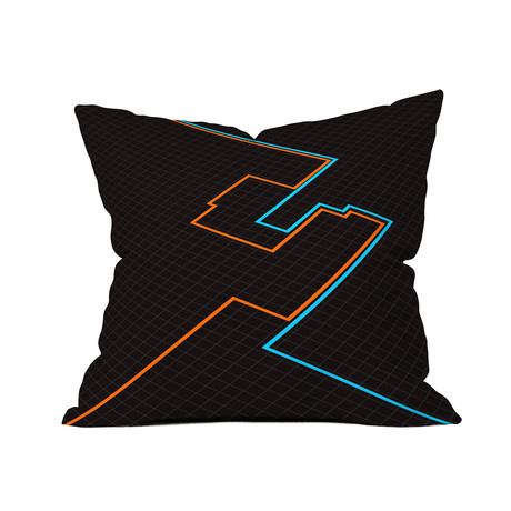 "End of Line // Throw Pillow (18"" x 18"")"