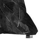 "Feathered Dark // Throw Pillow (18"" x 18"")"