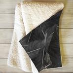 Feathered Dark // Fleece Throw Blanket (Medium)