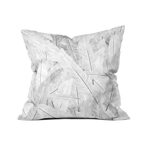 "Feathered Light // Throw Pillow (18"" x 18"")"
