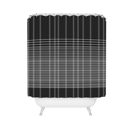 Gradient Dark // Shower Curtain