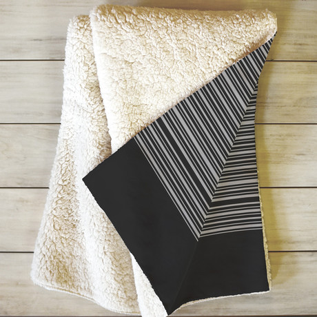 Gradient Dark // Fleece Throw Blanket (Medium)