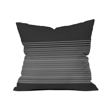 "Gradient Dark // Throw Pillow (18"" x 18"")"
