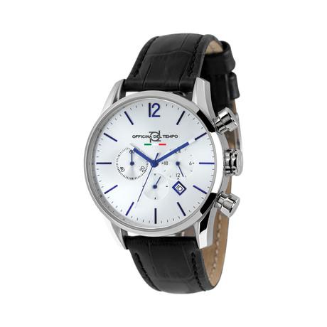 Officina del Tempo Style Minimal Chonograph Quartz // OT1033-1100ABN