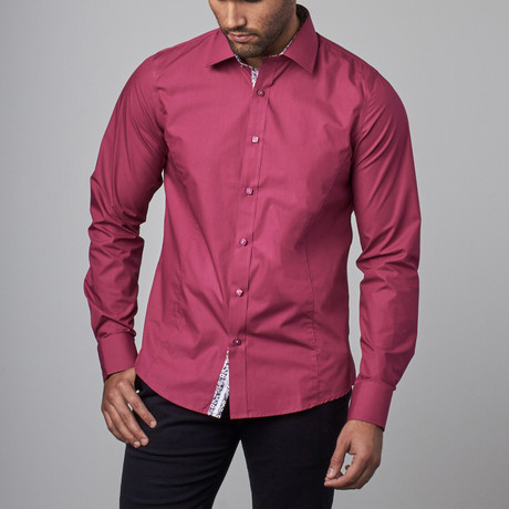 Bold Dress Shirt  // Plum