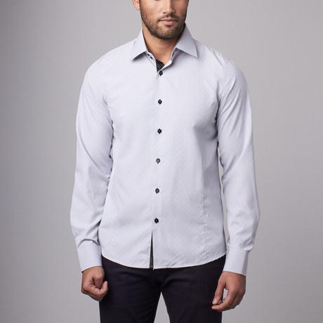 Dot Dress Shirt // Grey