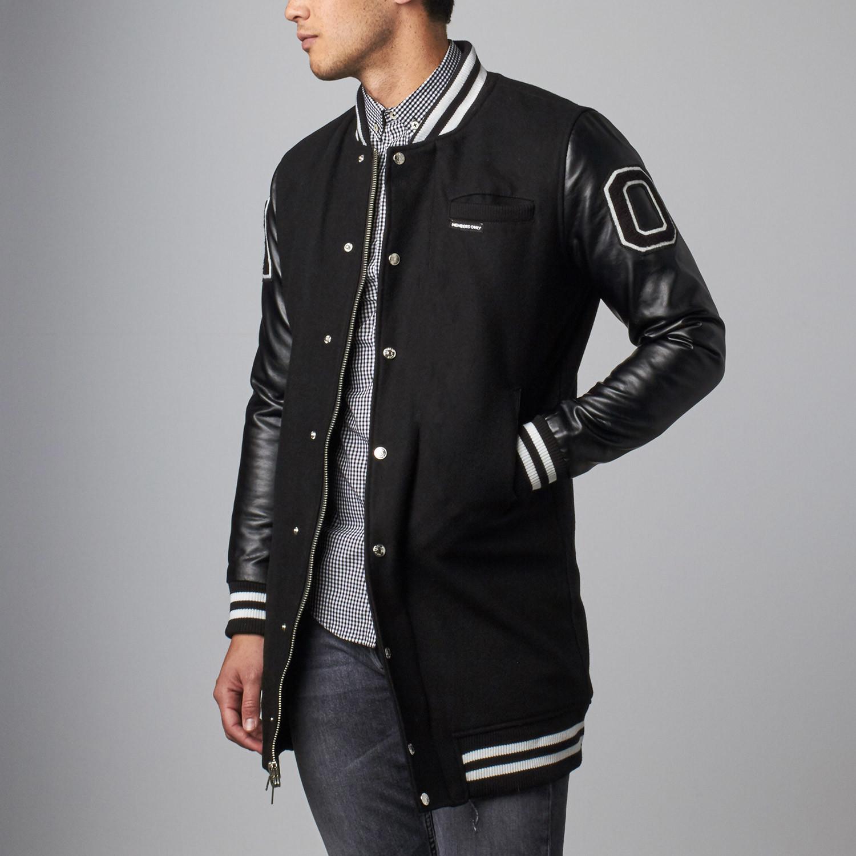 Varsity Long Jacket // Black (S)