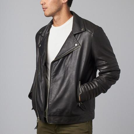 Lamb Milano Modern Motor Jacket // Black