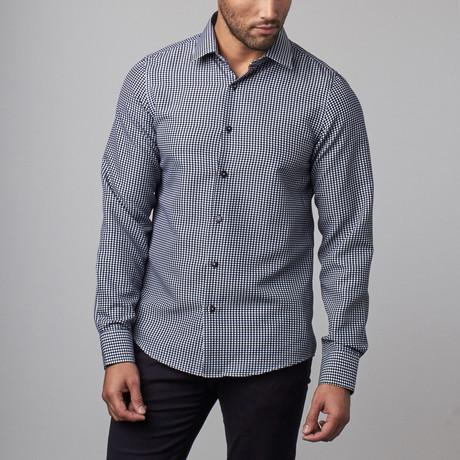 Hatch Dress Shirt  // Navy + White