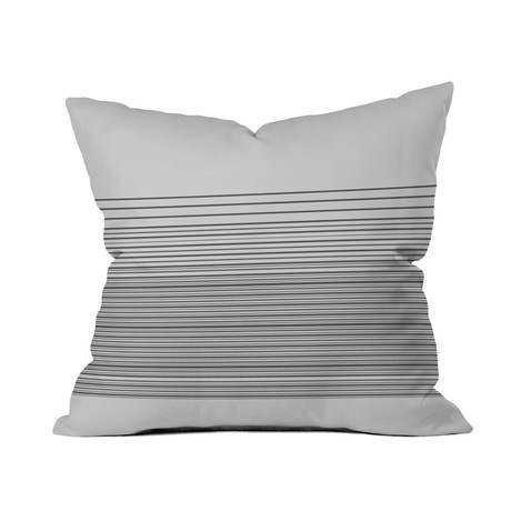 "Gradient Light // Throw Pillow (18"" x 18"")"