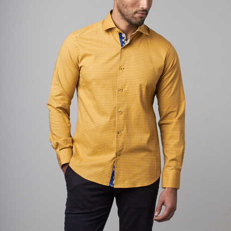 Button-Up Shirt // Yellow Dots