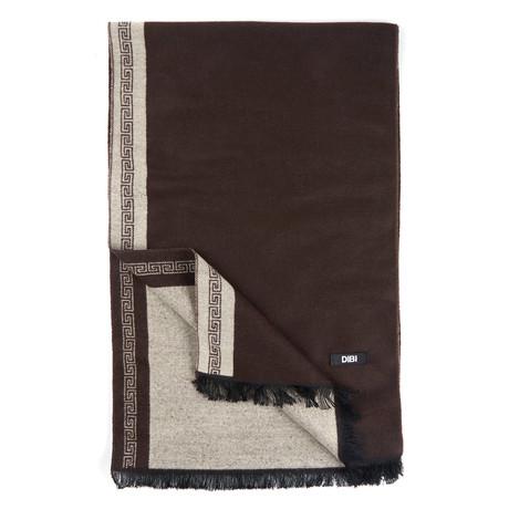 Bordered Scarf // Brown + Khaki