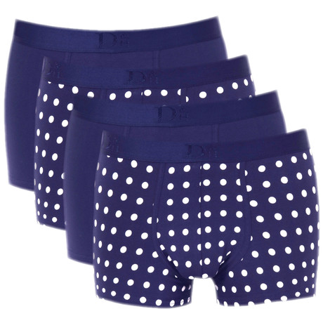 Boxer Briefs // Navy + White Dots // Pack of 4