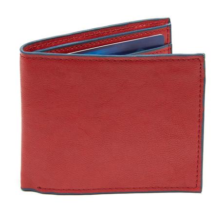 Frost Bi-Fold Wallet // Red