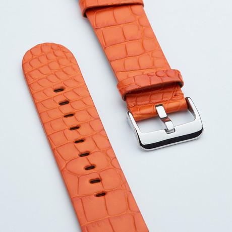 """Genuine Alligator """"Fits Apple"""" Watchstrap // Orange Matt"""