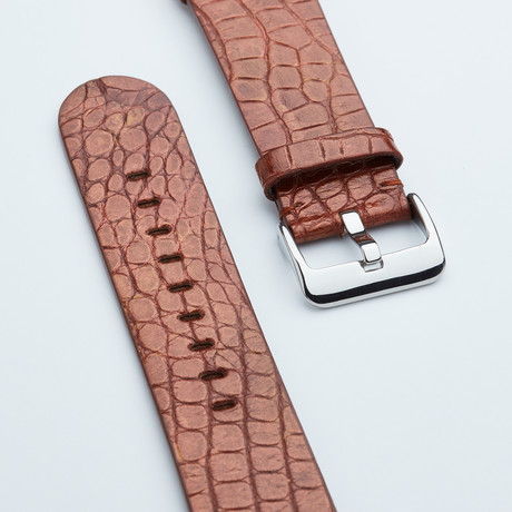 """Genuine Alligator """"Fits Apple"""" Watchstrap // Metallic Copper"""