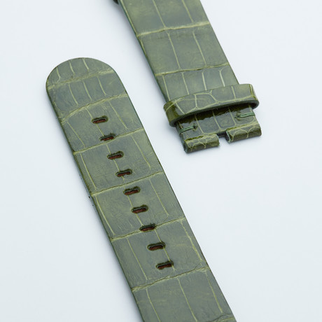Apple Watchstrap // Green Olive Shiny Alligator